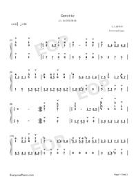 Gavotte 23-Johann Sebastian Bach-Numbered-Musical-Notation-Preview-1