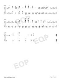 Gavotte 23-Johann Sebastian Bach-Numbered-Musical-Notation-Preview-2