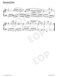 Gavotte 23-Johann Sebastian Bach Stave Preview 2