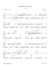 The World Is Asleep-Perfect Version Numbered Musical Notation Preview 1