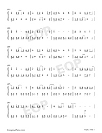 The World Is Asleep-Perfect Version Numbered Musical Notation Preview 2