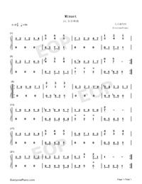 Minuet 24-Johann Sebastian Bach-Numbered-Musical-Notation-Preview-1