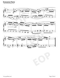 Scherzo 25-Johann Sebastian Bach Stave Preview 2