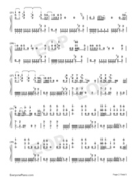 Bad-Michael Jackson Numbered Musical Notation Preview 2