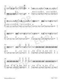 Bad-Michael Jackson-Numbered-Musical-Notation-Preview-3