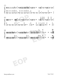 Bad-Michael Jackson Numbered Musical Notation Preview 5