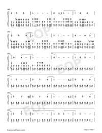 Welcome Home-Radical Face Numbered Musical Notation Preview 3