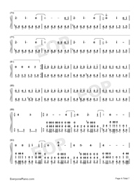 Welcome Home-Radical Face Numbered Musical Notation Preview 4