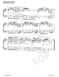 サラバンド 26-バッハ初級ピアノ曲集五線譜プレビュー2