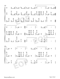 Farewell of Slavianka-Proshchaniye slavyanki Numbered Musical Notation Preview 2