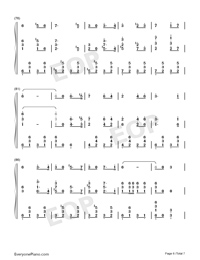 Farewell of Slavianka-Proshchaniye slavyanki Numbered Musical Notation Preview 6