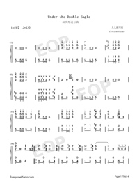 Under the Double Eagle-Numbered-Musical-Notation-Preview-1