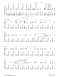 Under the Double Eagle-Numbered-Musical-Notation-Preview-3