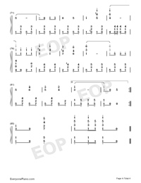 Under the Double Eagle-Numbered-Musical-Notation-Preview-4