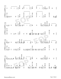 No Place-Backstreet Boys Numbered Musical Notation Preview 2