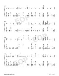 No Place-Backstreet Boys Numbered Musical Notation Preview 3