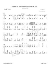 The Parade of the Wooden Soldiers-The Parade of the Tin Soldiers-Numbered-Musical-Notation-Preview-1