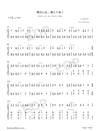 Ashita ni wa Kiete Yuku-Hatsune Miku-Numbered-Musical-Notation-Preview-1