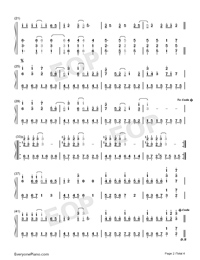 Ashita ni wa Kiete Yuku-Hatsune Miku-Numbered-Musical-Notation-Preview-2