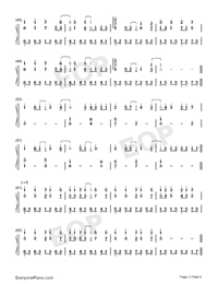 Ashita ni wa Kiete Yuku-Hatsune Miku-Numbered-Musical-Notation-Preview-3
