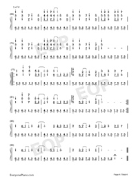 Ashita ni wa Kiete Yuku-Hatsune Miku-Numbered-Musical-Notation-Preview-4