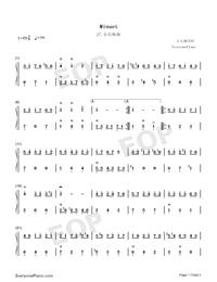 Minuet 27-Johann Sebastian Bach-Numbered-Musical-Notation-Preview-1