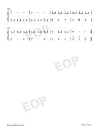 Minuet 27-Johann Sebastian Bach-Numbered-Musical-Notation-Preview-2