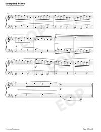 Minuet 27-Johann Sebastian Bach Stave Preview 2