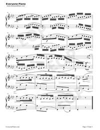 序曲 28-巴赫初級鋼琴曲集五線譜預覽3