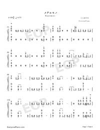 メグルモノ-關于我轉生變成史萊姆這檔事OP2雙手簡譜預覽1