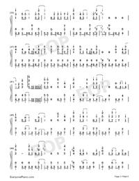 メグルモノ-關于我轉生變成史萊姆這檔事OP2雙手簡譜預覽3