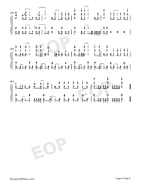 メグルモノ-關于我轉生變成史萊姆這檔事OP2雙手簡譜預覽4