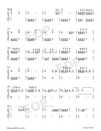 流恋-伴奏譜両手略譜プレビュー2