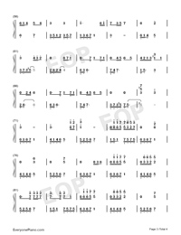 流恋-伴奏譜両手略譜プレビュー3