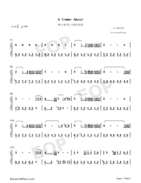 A Comme Amour-Easy Version-Numbered-Musical-Notation-Preview-1