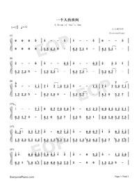 A Room of Ones Own Numbered Musical Notation Preview 1