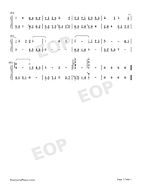 A Room of Ones Own-Numbered-Musical-Notation-Preview-3