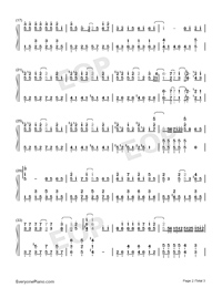 Dream Pursuer with Childish Heart-2013 Super Boy Theme-Numbered-Musical-Notation-Preview-2