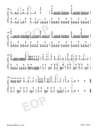 Futari nara-Real Girl Second Season OP-Numbered-Musical-Notation-Preview-3