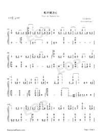 Niji no Kanata ni-Sword Art Online Alicization OST-Numbered-Musical-Notation-Preview-1