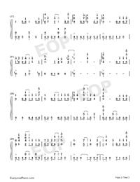 Niji no Kanata ni-Sword Art Online Alicization OST-Numbered-Musical-Notation-Preview-2
