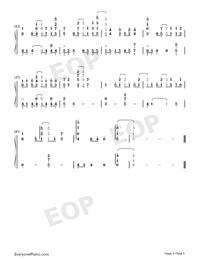 虹の彼方に-ソードアート・オンライン アリシゼーション OST両手略譜プレビュー3