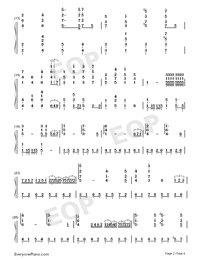 The Mission-Richard Clayderman Numbered Musical Notation Preview 2