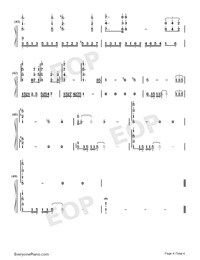 The Mission-Richard Clayderman Numbered Musical Notation Preview 4
