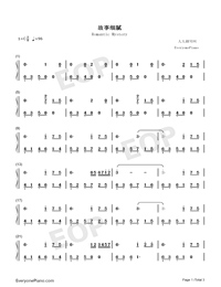 Romantic Mystery-JJ Lin-Numbered-Musical-Notation-Preview-1