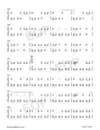Romantic Mystery-JJ Lin Numbered Musical Notation Preview 2