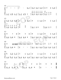 Romantic Mystery-JJ Lin Numbered Musical Notation Preview 3