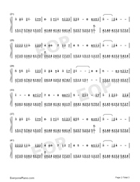 Hundred Days-JJ Lin-Numbered-Musical-Notation-Preview-2