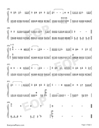 Hundred Days-JJ Lin-Numbered-Musical-Notation-Preview-3