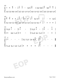 Hitō o Motomete-Monster Hunter BGM-Numbered-Musical-Notation-Preview-2